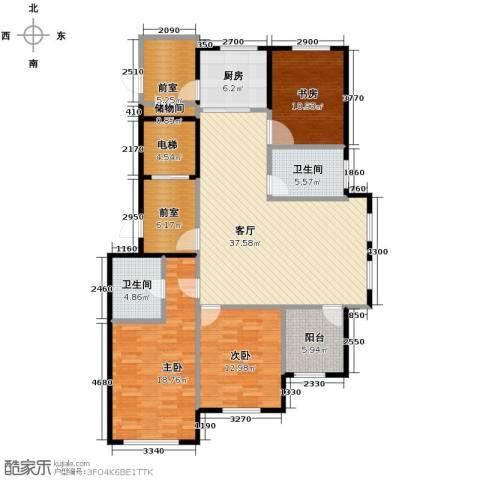 青鸟中山华府3室2厅2卫0厨134.00㎡户型图