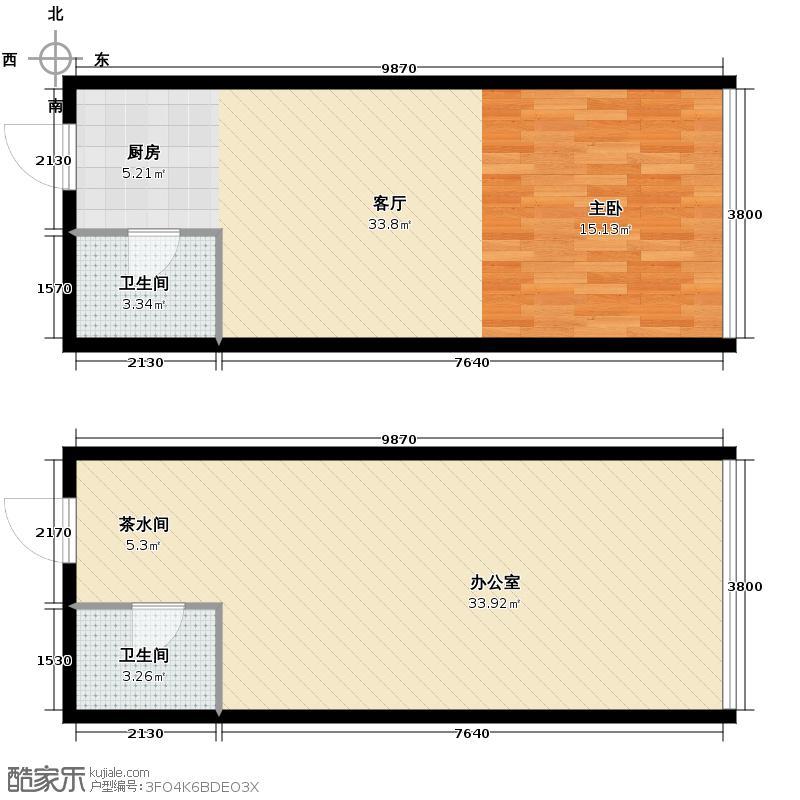 城市中坚80.63㎡G标准层平面图户型10室