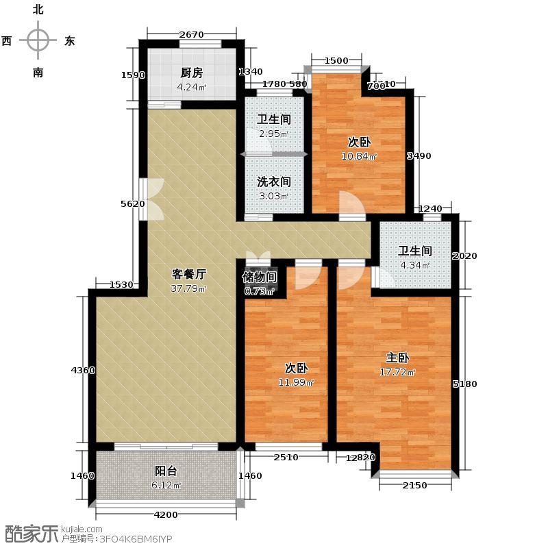 晟地丽江115.74㎡户型10室