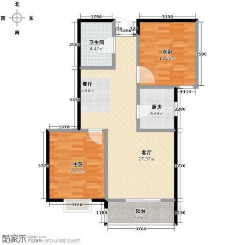 银都之星公馆2室2厅1卫0厨85.00㎡户型图