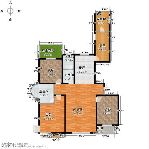 珠峰国际花园三期3室0厅2卫1厨205.00㎡户型图