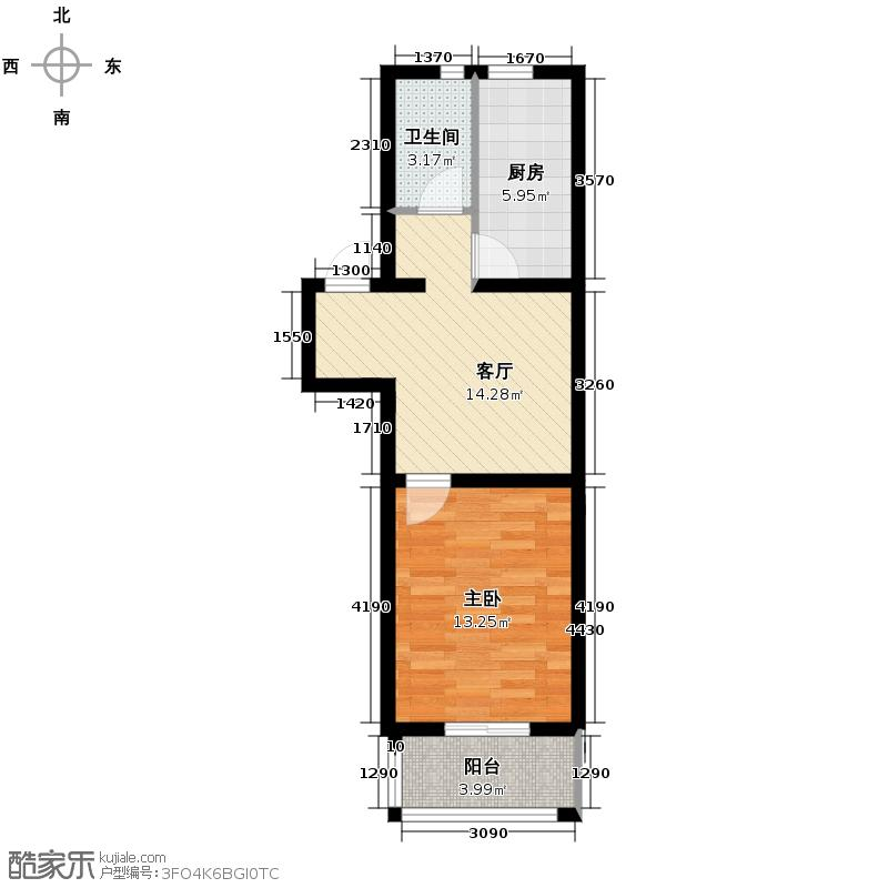 柏林现代城50.00㎡房型户型10室