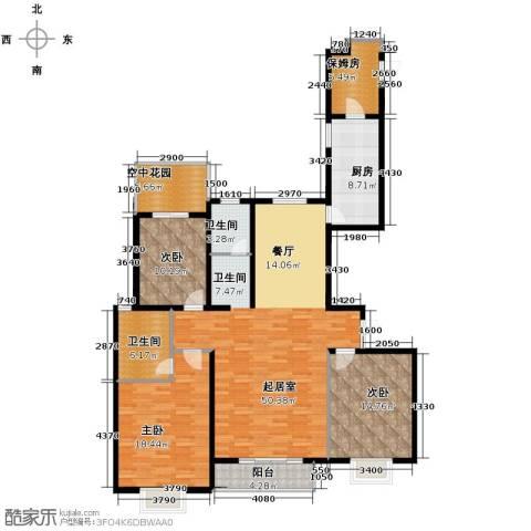 珠峰国际花园三期3室0厅2卫1厨169.00㎡户型图