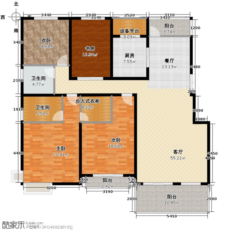 国信来凤街1号186.00㎡C层叠墅户型10室