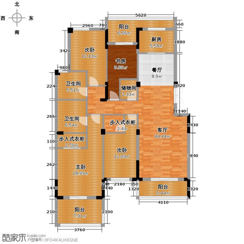 西溪里175.00㎡熙园5号楼奇数层滨河双景大宅户型4室1厅2卫1厨