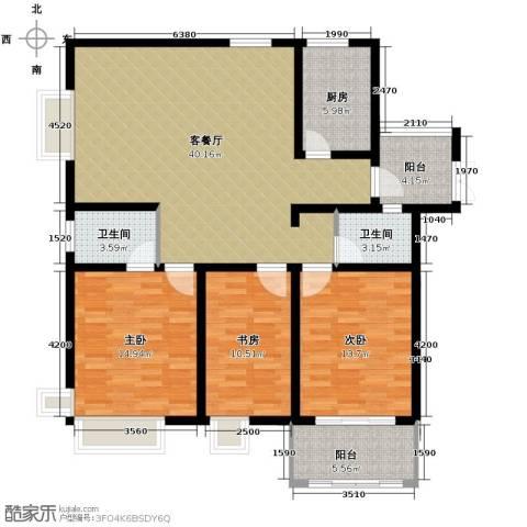 凤凰和美3室1厅2卫1厨143.00㎡户型图