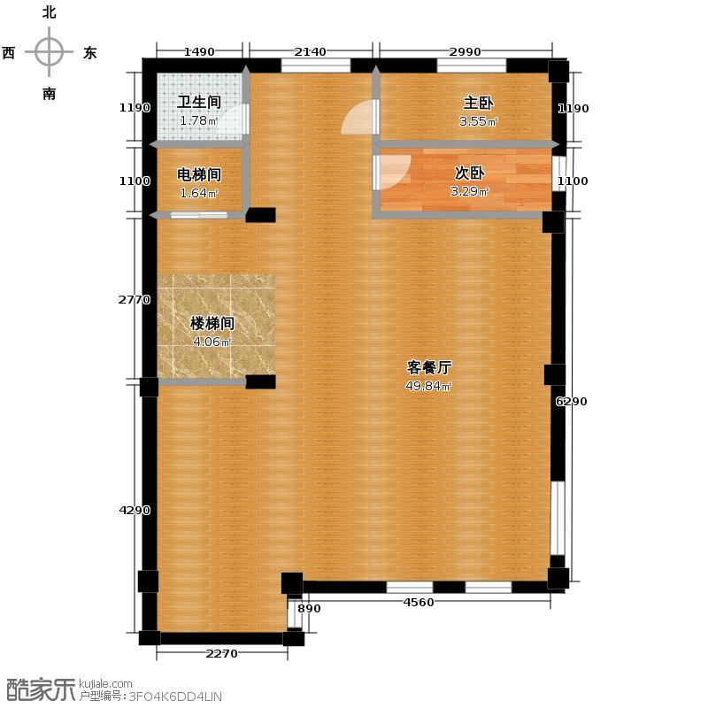 宏图上水庭院66.30㎡联排A2、B2地下层户型10室