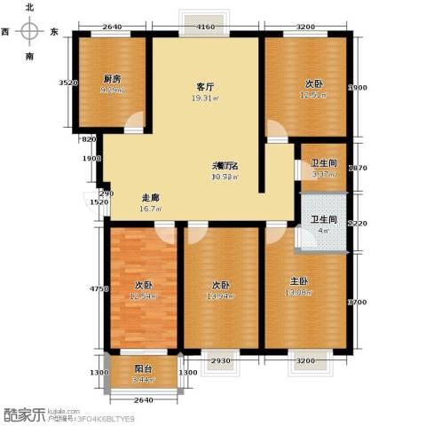 卓达上院4室0厅2卫1厨157.00㎡户型图
