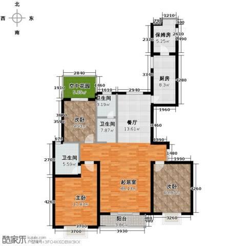 珠峰国际花园三期3室0厅2卫1厨171.00㎡户型图