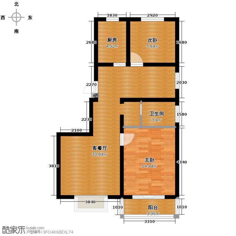 都市怡景四期74.99㎡小高层户型10室