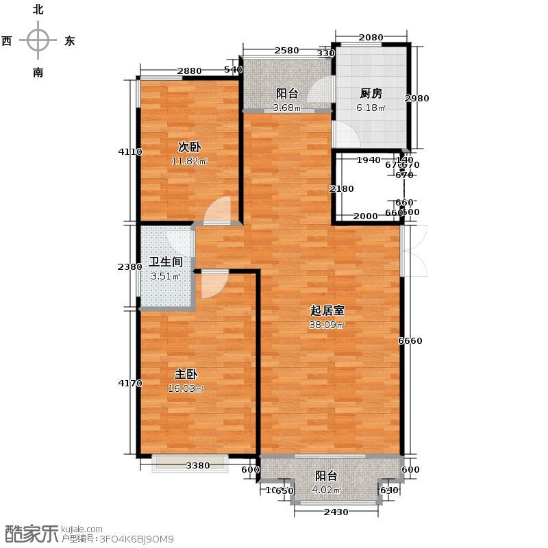 尚水苑111.00㎡A1户型2室2厅1卫