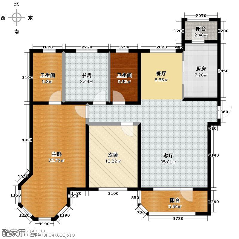 中海城151.00㎡户型3室2厅2卫