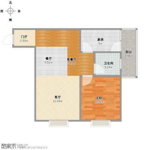 帝国魔码5米41室1厅1卫1厨67.00㎡户型图