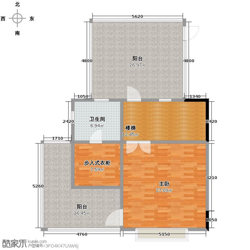 广州星河丹堤285.00㎡天御观邸三层户型1室1卫