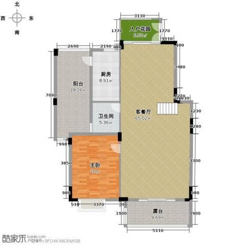 广州星河丹堤1室1厅1卫1厨285.00㎡户型图