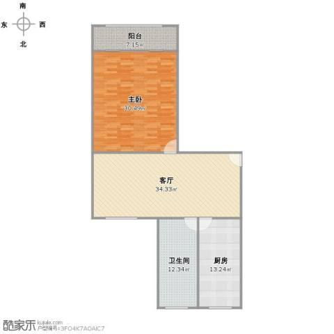 金桥花苑1室1厅1卫1厨129.00㎡户型图