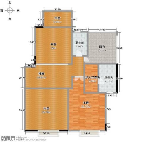 广州星河丹堤1室0厅2卫0厨234.00㎡户型图