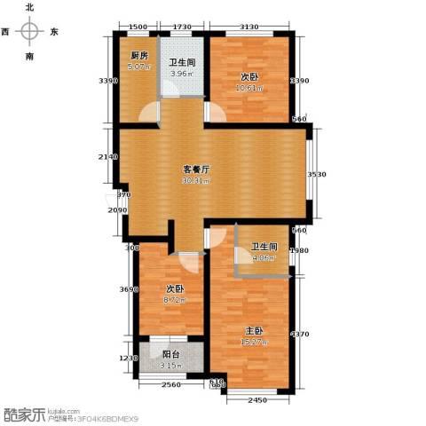 肯彤国际3室2厅2卫0厨114.00㎡户型图