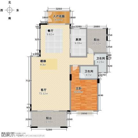 广州星河丹堤1室1厅2卫1厨234.00㎡户型图