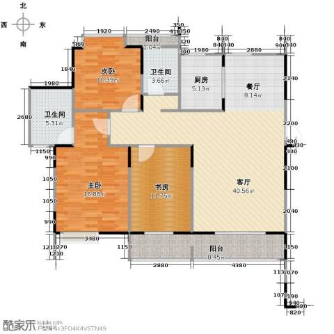 伊萨卡排屋3室1厅2卫1厨139.00㎡户型图