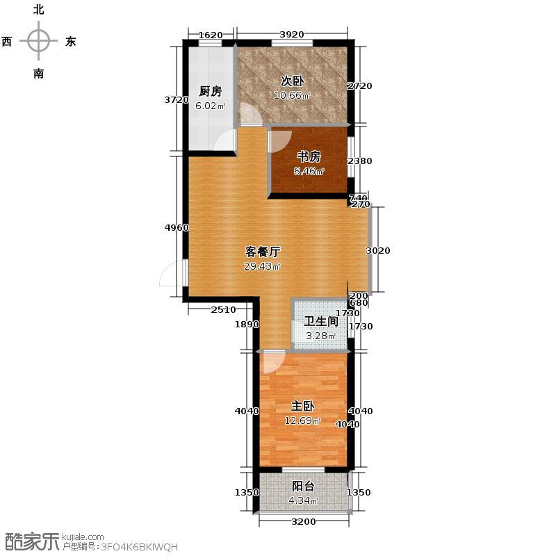 君廷上院112.40㎡E户型3室2厅1卫
