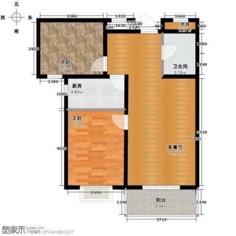 君廷上院2室2厅1卫0厨96.00㎡户型图