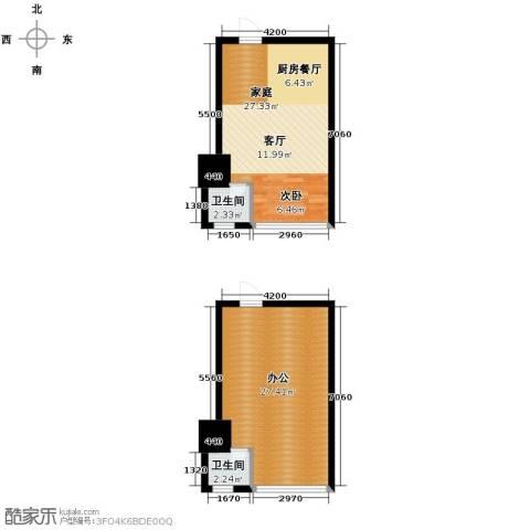 城市中坚1室1厅1卫0厨59.31㎡户型图