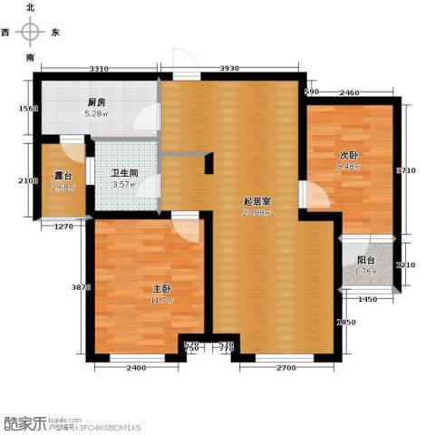 肯彤国际2室2厅1卫0厨89.00㎡户型图