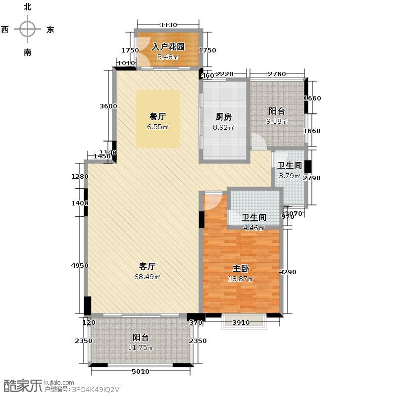 广州星河丹堤234.00㎡玺境观邸一层户型1室1厅2卫1厨