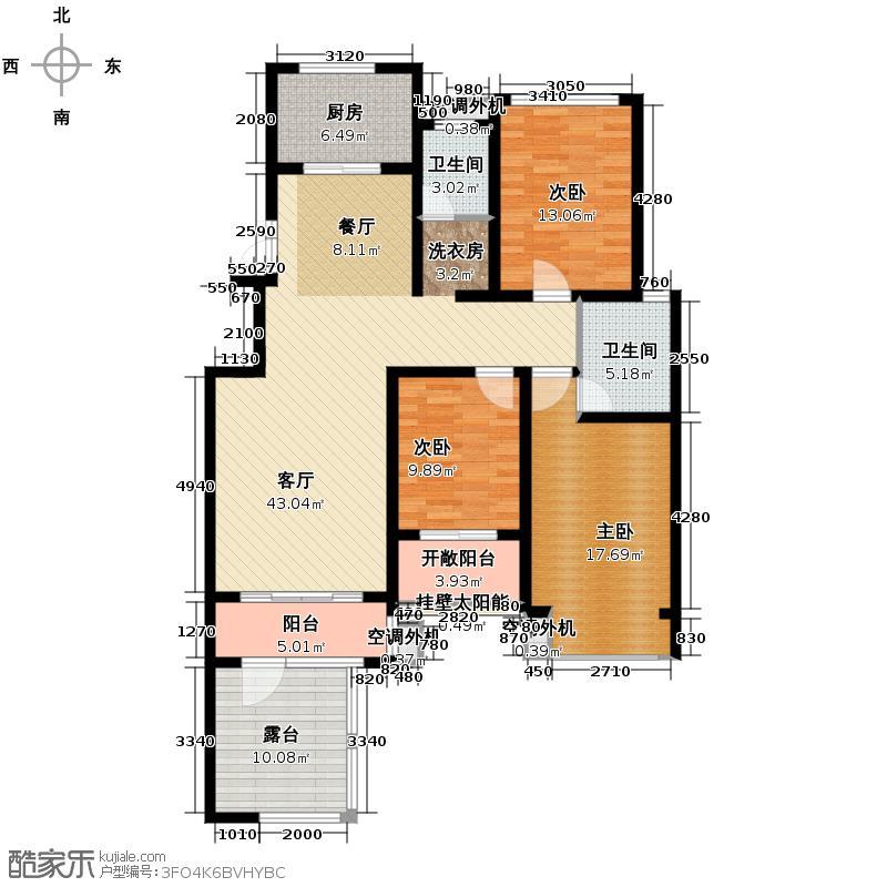 豪门府邸140.20㎡户型3室1厅2卫1厨