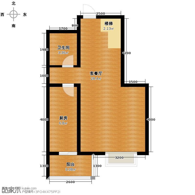 汇锦城113.21㎡藏龙福地8#G下层户型1厅1卫1厨