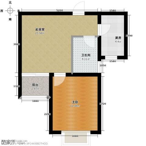 锦运名都1室1厅1卫0厨54.00㎡户型图