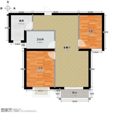 锦运名都2室2厅1卫0厨89.00㎡户型图