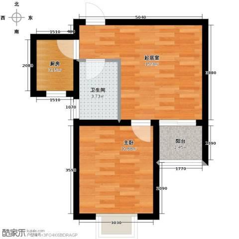 锦运名都1室1厅1卫0厨55.00㎡户型图