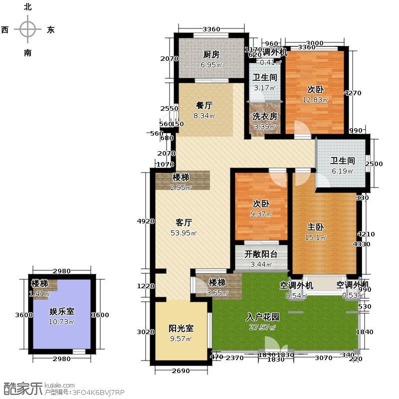 豪门府邸148.17㎡户型3室1厅2卫1厨