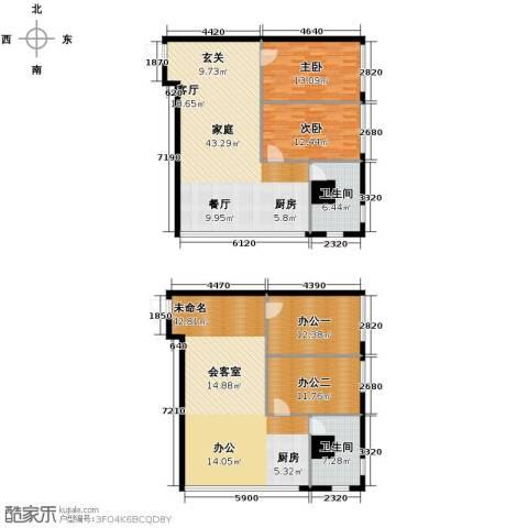 城市中坚2室2厅1卫0厨148.70㎡户型图