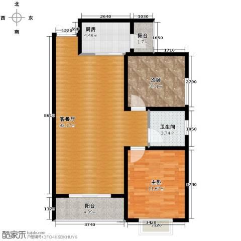 君廷上院2室2厅1卫0厨90.00㎡户型图