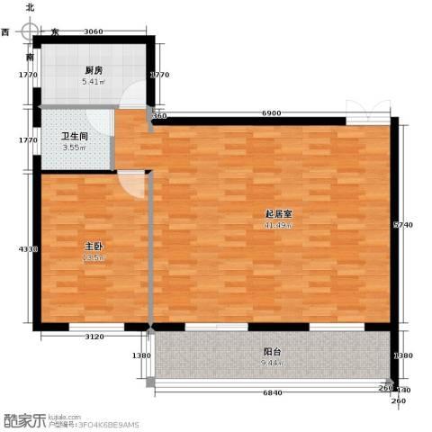 伽蓝・美城1室0厅1卫1厨102.00㎡户型图