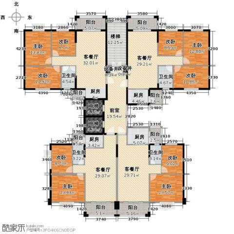 盈峰尚苑9室4厅4卫3厨460.00㎡户型图