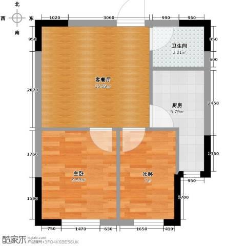 爵士公馆2室1厅1卫0厨60.00㎡户型图