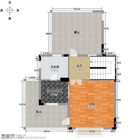 广州星河丹堤1室0厅1卫0厨285.00㎡户型图