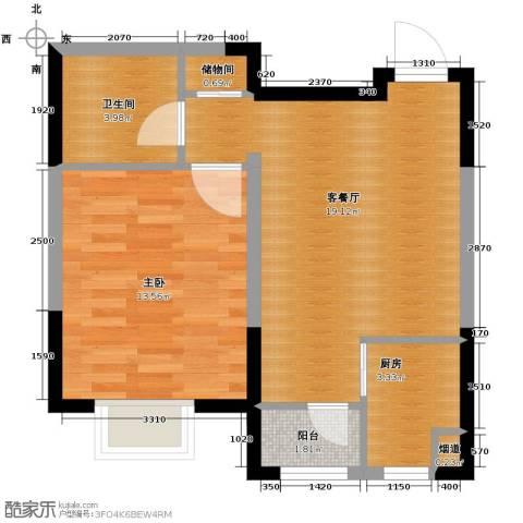 碧桂园・银河城1室1厅1卫0厨61.00㎡户型图