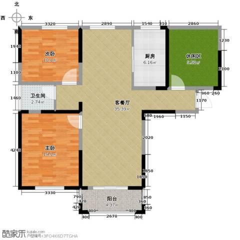 城改蜀湖湾2室2厅1卫0厨120.00㎡户型图