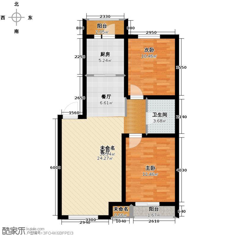 金沙岭�83.00㎡多层C户型2室1厅1卫
