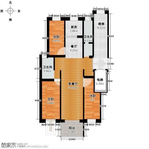 壹度恒园3室2厅2卫0厨73.81㎡户型图