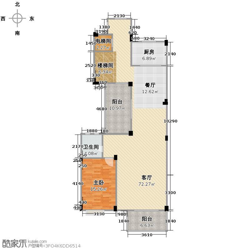 宏图上水庭院113.48㎡Db三层户型10室