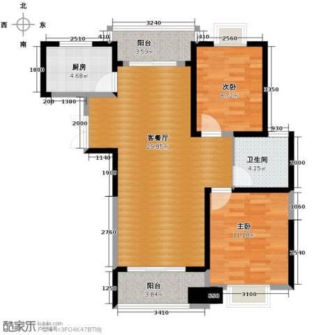 滨湖品阁2室1厅1卫1厨94.00㎡户型图