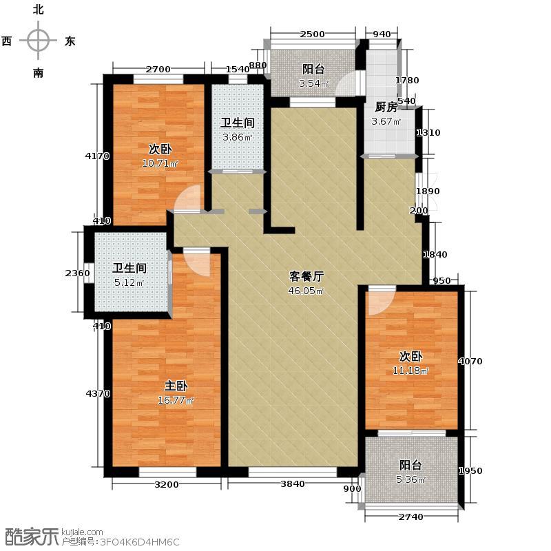 中意之尊149.98㎡C1户型3室2厅2卫