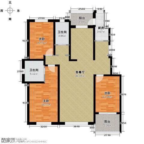 中意之尊3室2厅2卫0厨150.00㎡户型图