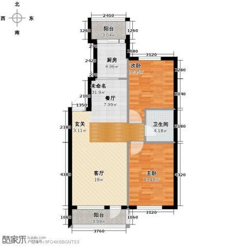 亚都名苑三期2室0厅1卫1厨99.00㎡户型图